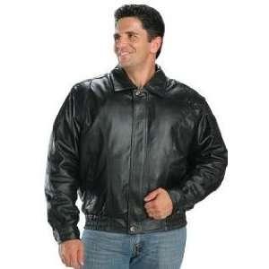Classic Mens Leather Bomber Jackets Sz L