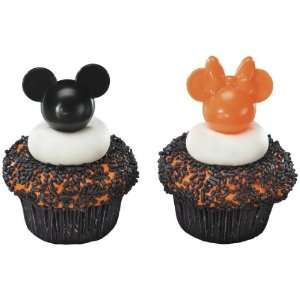 Mickey and Minnie Mouse Orange and Black Cupcake Picks