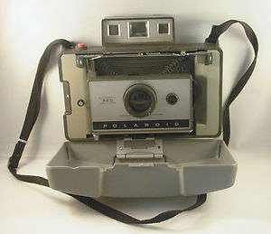 Vintage Polaroid 320 Land Camera Instant+268 Flash EUC