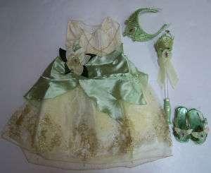 Disney Princess & Frog Tiana Costume Set XXS 2/2T 3/3T