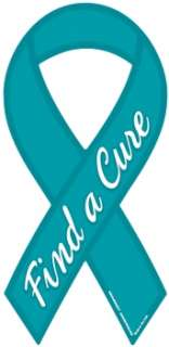 Cure Ovarian Cancer Ribbon Magnet. Show your support for finding a