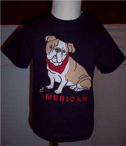 Janie Jack Boys T Shirt Top Blue Dog All American New