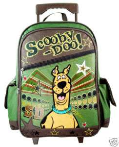 NEW Large SCOOBY DOO Rolling BACKPACK School Travel Bag