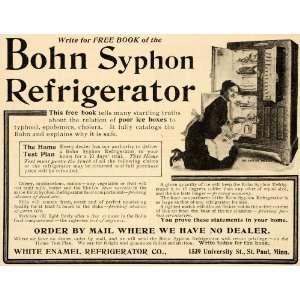 1907 Vintage Ad Bohn Syphon Refrigerator Icebox Antique