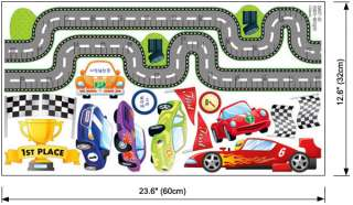 Cars Height Kids Room Wall Stickers Home Decor Decals