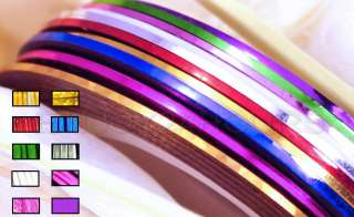 10 Color Striping Tape Line Decoration Sticker Nail Art