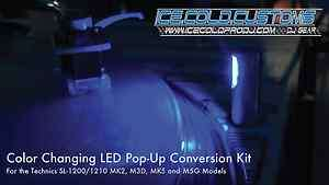 Customs COLOR CHANGING Pop Up LED Conversion Kit! Technics 1200