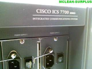 CISCO ICS 7700/7750 VOIP CALL MANAGER TELEPHONE SYSTEM