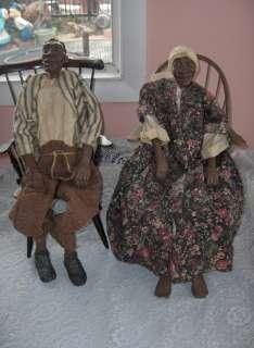 Long Legs Dolls African American Tobias & Nettie Wood Chairs