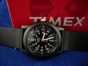 NEW TIMEX MENS BLACK MILITARY STYLE 24 HOUR WATCH
