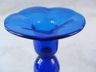Antique Pairpoint Cobalt Blown Glass 8 Experimental Candlesticks Must
