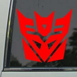 TRANSFORMERS Red Decal Megatron AUTOBOT Window Red Sticker